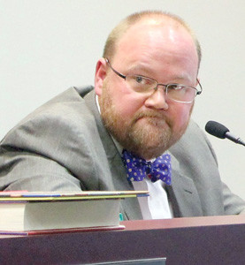 "CHRIS TURNER, chairman of the Bradley County Board of Education, frowns as he talks about the ""sacrifice"" of taking money from the school system's budget to fund a new building for Lake Forest Middle School."