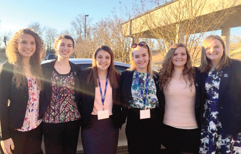 MARKETING STUDENTS from Walker Valley High School recently participated in a district competition for DECA, an international organization for business and marketing students, and all advanced to the state level. From left are Alayna Tweed, Alexandria Smith, Audrey Scoggins, Caroline Logan, Jenni Smithson and Nicole VanDusen.
