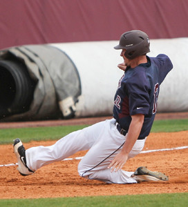 LEE UNIVERSITY senior Trent Hill enjoyed his biggest day in leading the Flames to doubleheader victories over fifth-ranked West Alabama Saturday at Olympic Field. Hill had four hits and seven RBI in the stunning twinbill sweep.