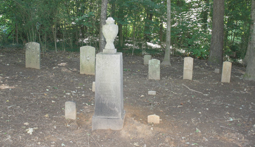 THE OLD CLINGAN FAMILY cemetery is located in a small wooded area on the east side of Georgetown Road in north Cleveland. There are less than 20 burial markers in the small cemetery, dominated by a large marker for Bradley County's first elected sheriff, A.A. Clingan, and his wife, Martha.