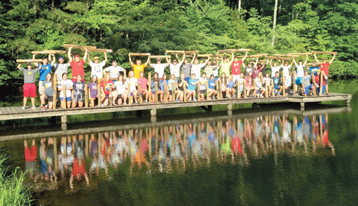 CAMPERS pose among scenic surroundings while taking part in the FCA of the Ocoee Region's Outdoor Adventure Camp this summer. The youth ministry organization offers a variety of camps centered around various sports.