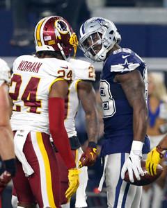 9ca95bf6934 Washington Redskins cornerback Josh Norman (24) and Dallas Cowboys wide  receiver Dez Bryant (