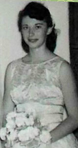 Ava's birth mother, Kathleen Owen-St. Pierre, seen as a bridesmaid in her sister's wedding.