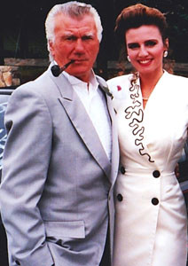 St. Pierre posed with her father, Ronald Allen St. Pierre, Sr., in 1993 at a family wedding.