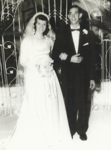 John and Betty (Geren) Scott married on Christmas Day, 1955.