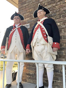 CLAUDE HARDISON  and Jim McKinney pose in their American Revolution apparel.