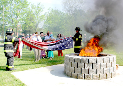 CFD Honor Guard retires tattered flags | The Cleveland Daily
