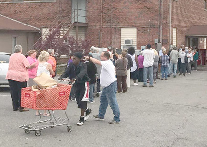 COMMODITIES ARE distributed every other month at the Bradley/Cleveland Community Services Agency.