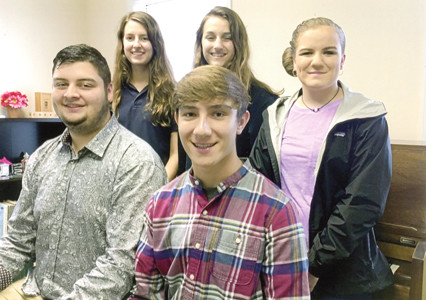 Among those performing, from left front, were Brandyn May and Jared Johnston; and back, Bailey Reams, Gwyneth Reams and Stephany Jones.