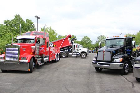 TRUCKS OF ALL shapes and sizes were parked at Westwood Baptist Church on Saturday for Family Cornerstones' annual Big Truck Round-Up.