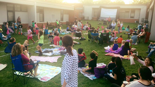 STUDENTS AND THEIR families recently enjoyed a movie night at Stuart Elementary School.