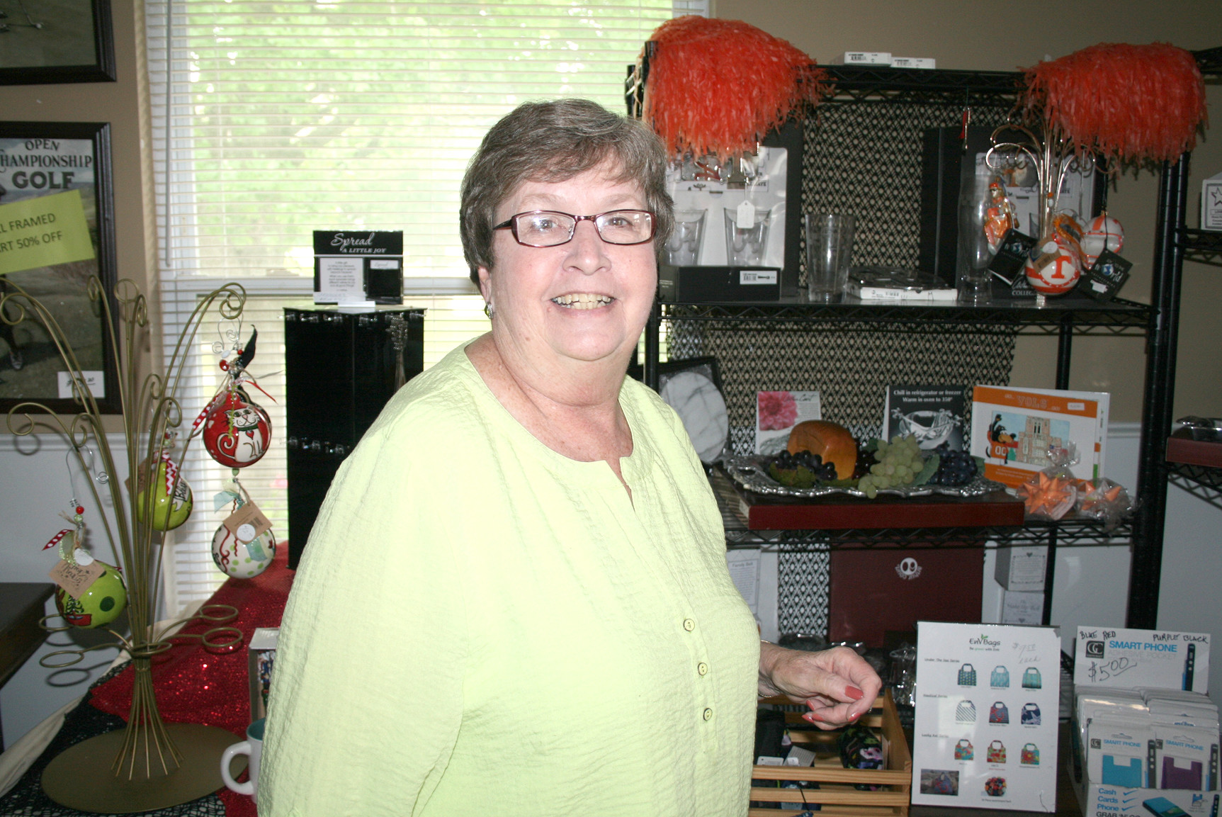 NANCY CASSON owns and operates the Red Ribbon gift shop in downtown Cleveland.