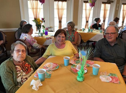 Bernie Roark, left, daughter, Eilene, and friends celebrated Mother's Day during the Morningside tea.