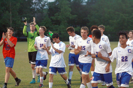 CLEVELAND'S UNDEFEATED soccer season continued with Thursday's 2-0 victory in the Region 3-AAA championship game over Cookeville. It was the third-ranked Blue Raiders' first win against the Cavs since 2011 and first in their last eight meetings. CHS will host Oakland on Saturday night at 7, for a chance to advance to the state tournament.