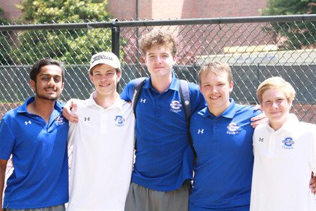 CLEVELAND TENNIS enjoyed a dominant season on the courts with an overall record of 111-7 in single and doubles play. From left are Veeren Patel, Allen Swetman, Jack Hughes, Adam Klibisz and Jared Holland. Not pictured is Caleb Lee.