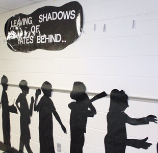 SECOND-GRADERS AT Yates Primary are leaving shadows of the school behind.