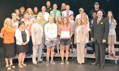WALKER VALLEY HIGH SCHOOL received a gold award from the Tennessee Highway Safety Office at a special presentation Tuesday. WVHS was one of only four schools in the state to achieve the gold level status.