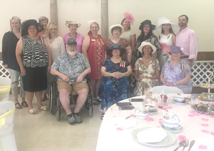 From left, front, are Kevin Kinne, Marilyn Kinne, Linda Ballew and Peggy Morrison; and back, Katy Rose, Robin Ramsey, Gussie Ridgeway, Lamone Rose, Helen Riden, Lisa Pritchett, Teresa Silvers, Christy Peden, Andrea Akers, Amy Kibble Roseberry and David Roseberry.