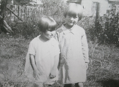 Yeary poses with her younger sister, Faye, in the East Tennessee community where they were born, Coalfield.