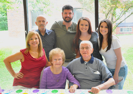BRADLEY HEALTHCARE and Rehab Center was the site of a special 70th wedding anniversary event for William W. Davis, seated at right, and his wife, Luellen M. Davis, seated left. Family, including children and grandchildren, were present at the celebration.