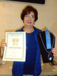 Doreen Johnson, Taylors FCE member, won first place with her beadwork entry at the Bradley County FCE Cultural Arts event. Her beaded necklace was also selected as the Viewer's Choice Award winner.