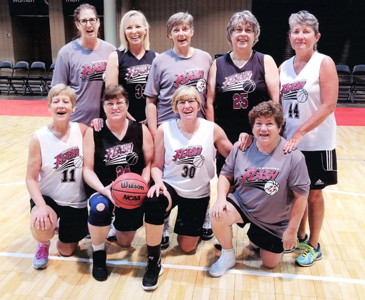 TN FLASH 55s gold medalists from the Tennessee Senior Olympic Games are, front left, Cathy Canup, Marsella Womac, Vickie Haile, Dianne Fetzer. Back row, Missy Murphy, Sharon Gallaher, Darlene Goins, Janet Newport, Deb Hart.