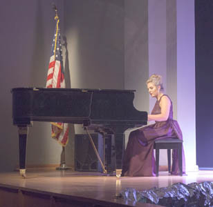 "ELLA TILLER performs Leonard Cohen's ""Hallelujah"" on piano at Friday night's DYW Preliminaries."