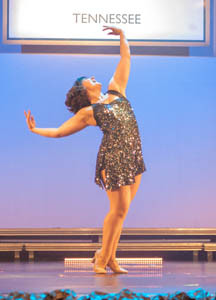 DYW OF TENNESSEE choreographer Chelsea Milligan, dances to a medley of songs   during the DYW Preliminaries. Milligan dedicated this dance to the entire DYW Class of 2018.