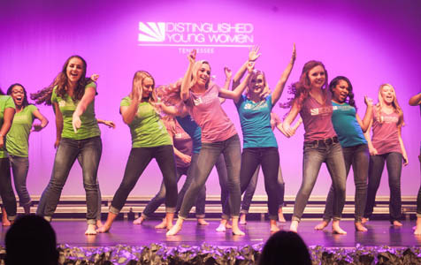 ENDING THE PRELIMINARIES on Friday night, all 26 contestants closed out the night dancing on stage together.