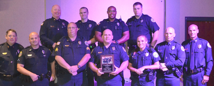 MEMBERS OF THE BRAVO team were recognized as Cleveland Police Department Team of the Year at the recent CPD awards luncheon.