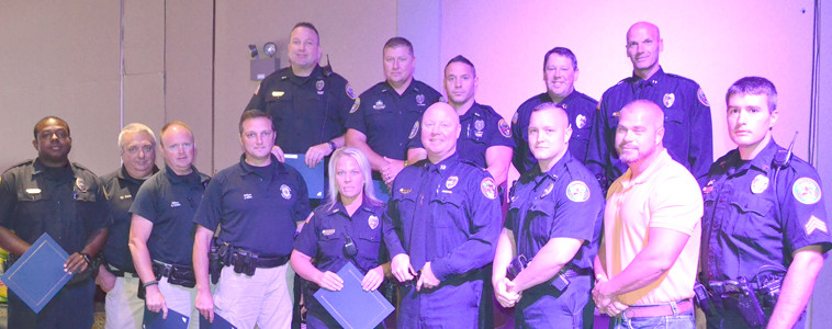 GOOD CONDUCT awards were presented at the Cleveland Police Department luncheon to officers who exhibited honorable service to the community and the department.