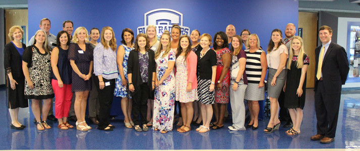A MULTITUDE of Cleveland City Schools new hires were introduced to the Board of Education in Monday's meeting at Raider Arena. In total, 40 new teachers and staff have joined CCS for the 2017-18 school year.