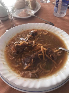 "A picture of the ""horrible"" spaghetti dish served at the Cuban government's 5-star resort, Varadero."