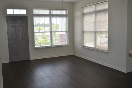 HARDWOOD FLOORING gives the apartments a beautiful touch, much as it does in the living area.