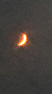 CHRIS BLANCHARD provided this partial eclipse photo.