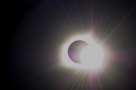 Russel Simms shared these two wonderful photos, of the eclipse.