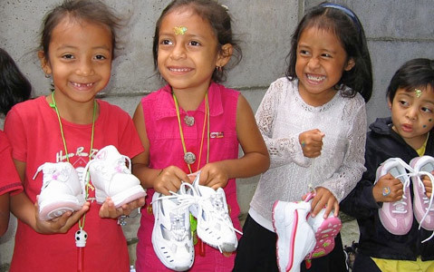 NO MATTER THEIR CORNER of the world, kids are just kids. And in whichever underdeveloped region they are born, what they need most is hope ... the kind of hope that is nurtured by health, education and opportunity. It starts with a simple pair of shoes.
