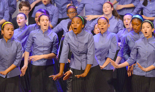 THE YOUNG PEOPLE'S Chorus of New York City will be featured in the April Presidential Concert.