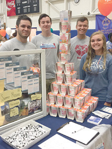 The Baptist Collegiate Ministries gave out free Cup O' Noodles, the college staple food, to each participant at the Connection.