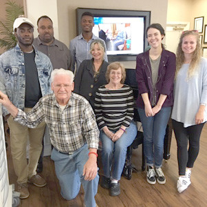 Lee University sociology students recently served residents of Memory Care of Morning Side in Chattanooga as part of their gerontology course, taught by Dr. Karen Mundy-Judkins.