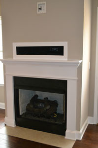 A gas-log fireplace in the living area will provide a  warmth and a special feeling during the colder months.