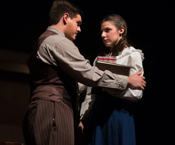 "Lee students perform in the Lee Theatre production of ""Diary of Anne Frank"" in the spring of 2016."