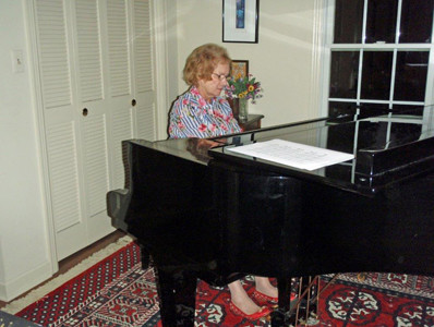 The Cleveland Music Club had its first monthly meeting of the new club year at the home of George and Martha Lessig. Members enjoyed Margaret Ann Randolph's playing a Liszt solo on the piano during the program.