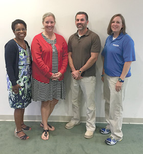 From left are Tracey Wright, Suzanne Bayne, Chad Cameron and Serena Young. Staff members not available for the photo were Angie St. John and Juliann Mathis.