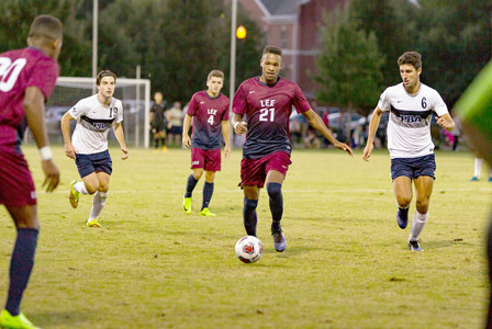SOPHOMORE DEFENDER Samir Williams and the Lee defense have allowed just three goals in four matches on the young season.  The Flames fell to Young Harris 1-0 Tuesday.