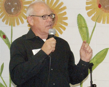 TCPS Trustee and Interim President Dan Chord spoke of the school's future during Tuesday's Chamber of Commerce coffee.