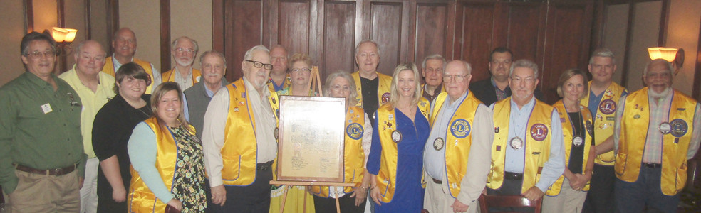 The Cleveland Lions Club poses for an 88th anniversary group photo