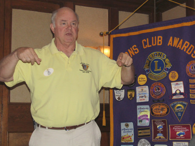 Lions International District Gov. John Moon addressed the Cleveland Lions Club on the occasion of the local club's 88th anniversary.