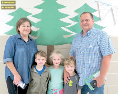 JOY AND TONY CLANTON were given a tour of Black Fox Elementary School by their grandchildren, Will, Emily, and Barrett Corley, during the school's recent Goodies for Grandparents event. Students invited loved ones to join them for treats, tours and more.