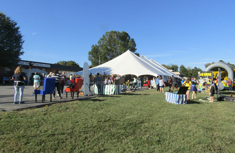 Tennessee Christian Preparatory School held its annual fall festival, below, Friday full of games, prizes and inflatable rides for the hundreds who showed up to participate.